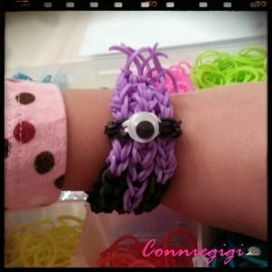 Evil Minion Rainbow Loom Bracelet