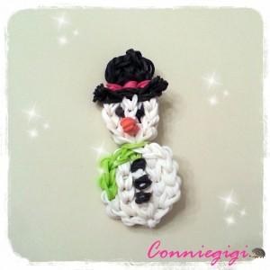 Snowman Rainbow loom bracelet / charm