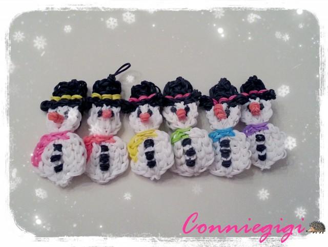 My Rainbow loom Snowman