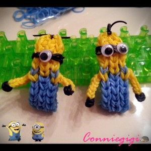 Rainbow loom minions with hands